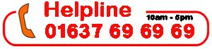 helpline 01637 69 69 69